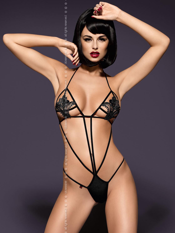 Obsessive Body Luiza teddy Negru