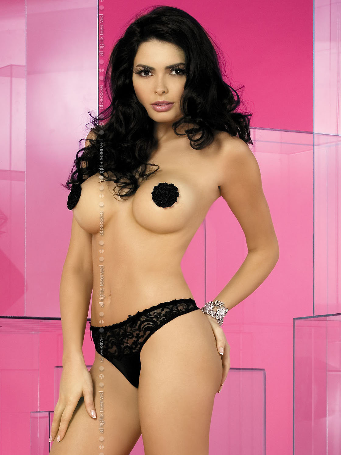 Lucky nipple covers Negru