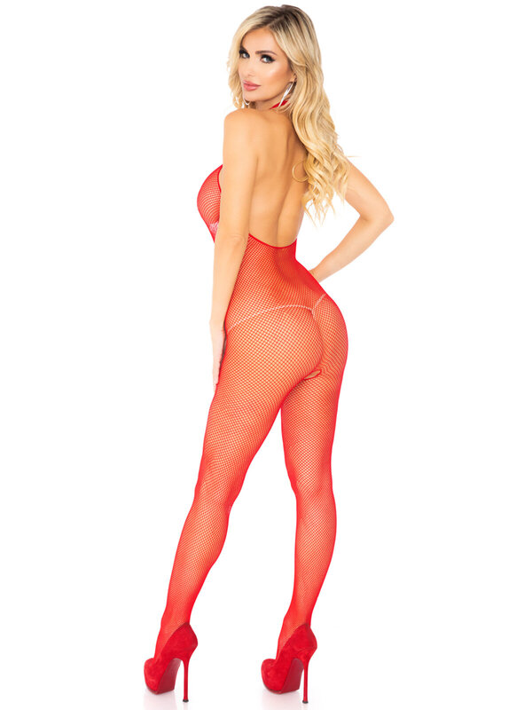 Catsuit Leg Avenue 8509 Fishnet Halter Bodystocking