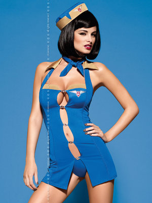 Costum Air hostess - Albastru