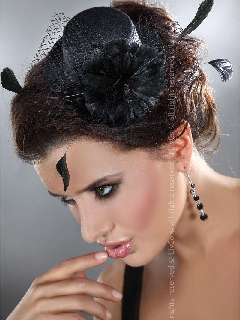 LivCo Palarie Mini top hat model 3 Negru