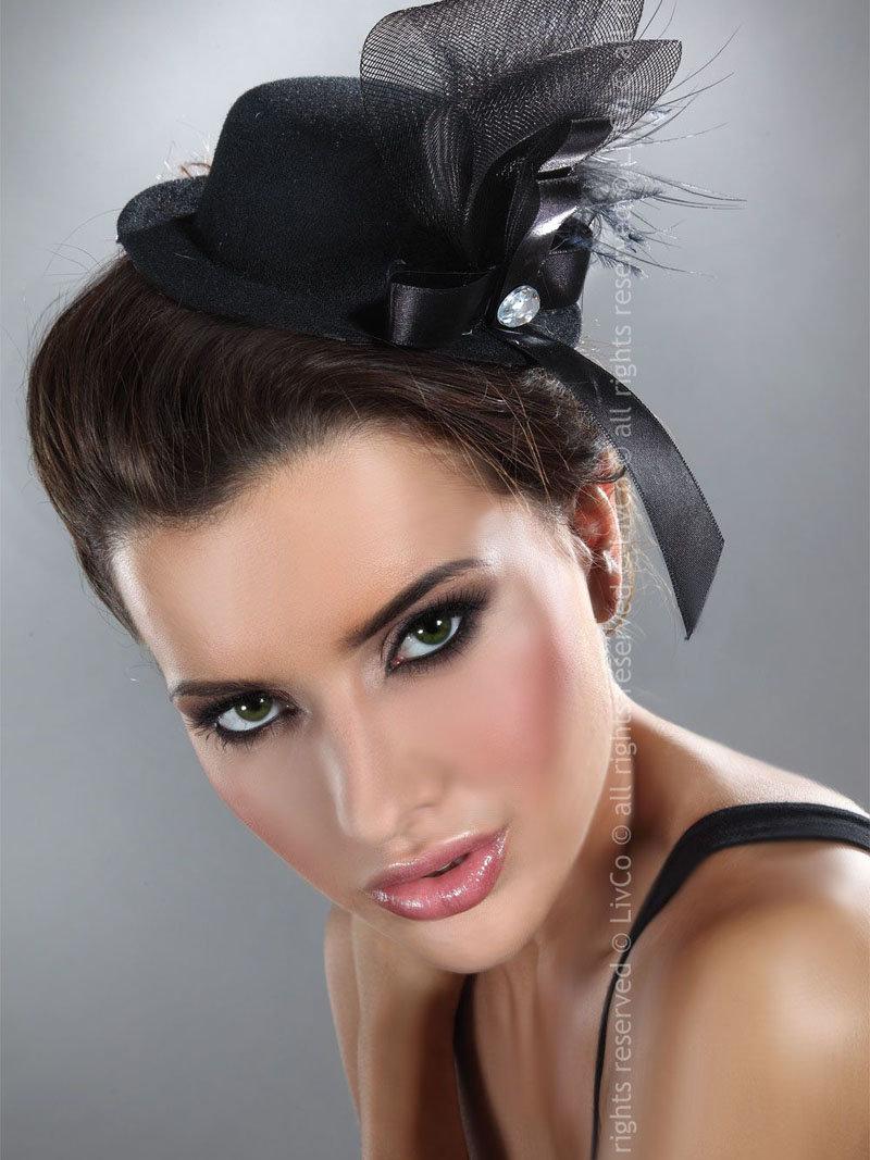 LivCo Palarie Mini top hat model 4 Negru
