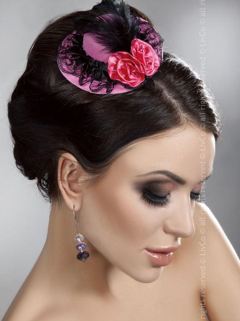 LivCo Palarie Mini Top Hat Model 9 Roz