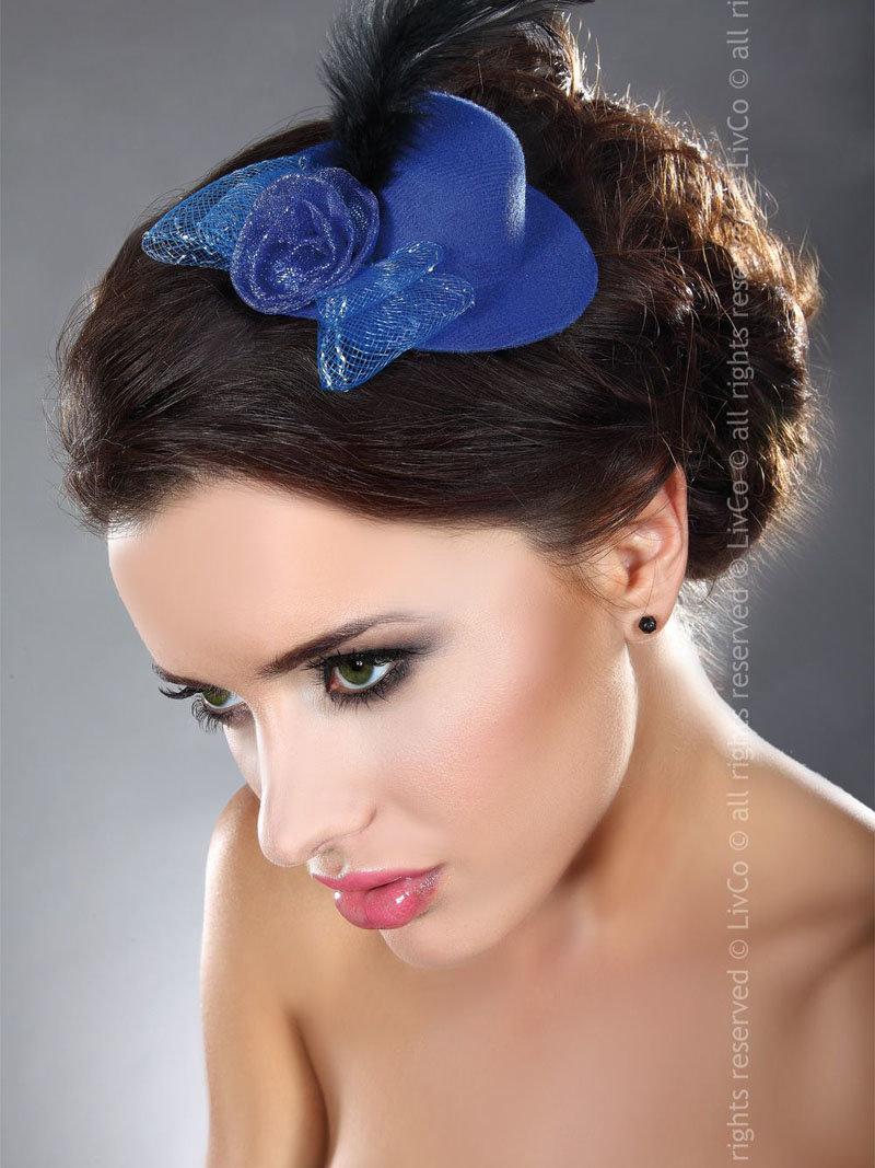 LivCo Palarie Mini Top Hat Model 11 Albastru