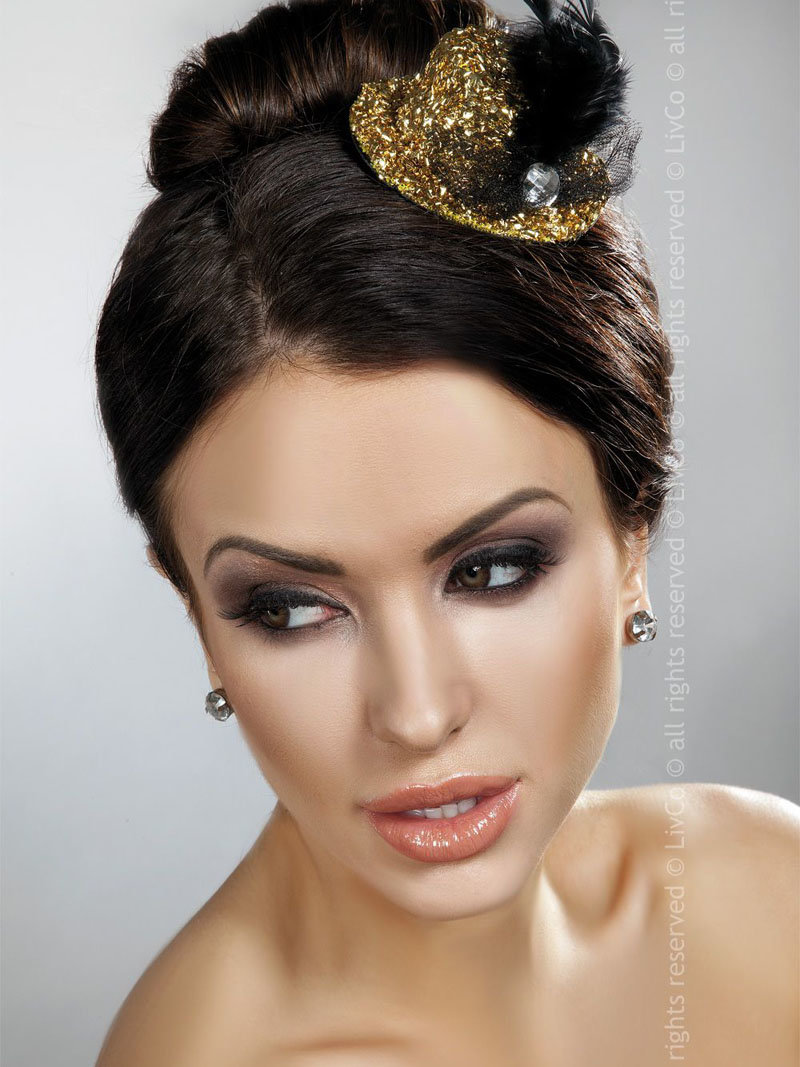 LivCo Palarie Mini Top Hat Model 12 Auriu