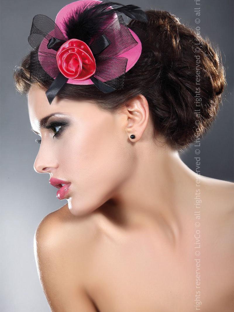 LivCo Palarie Mini Top Hat Model 15 Fuchsia