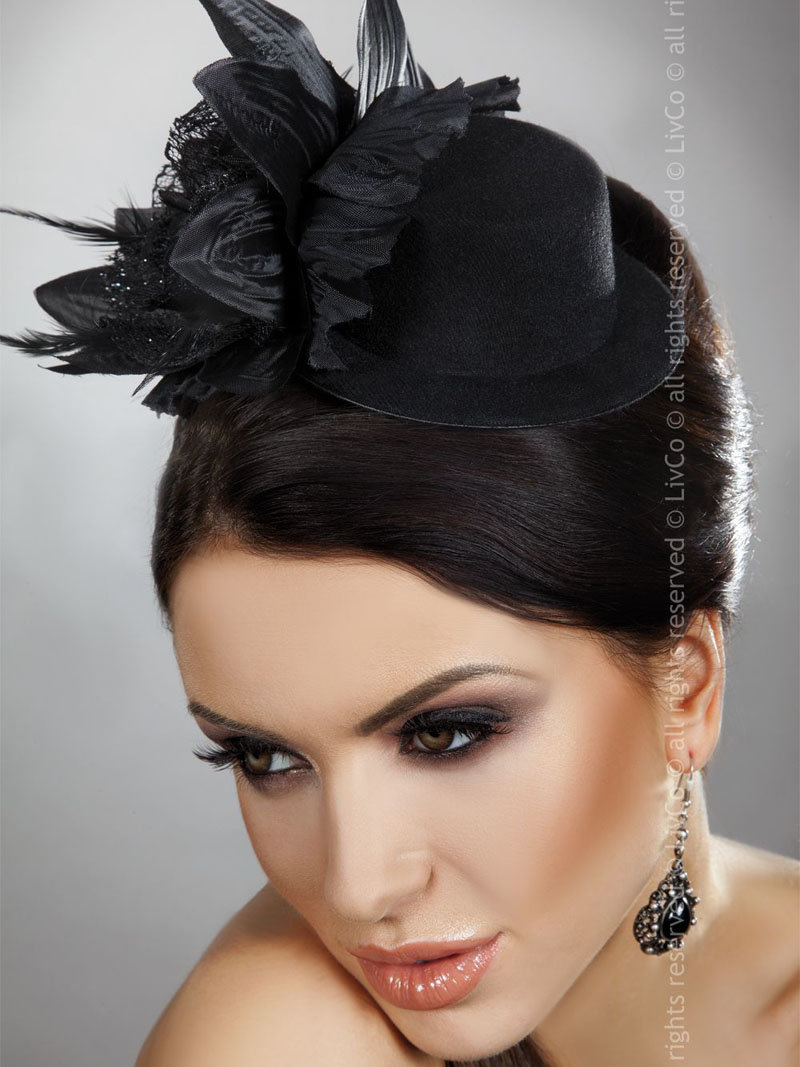 LivCo Palarie Mini Top Hat Model 22 Negru