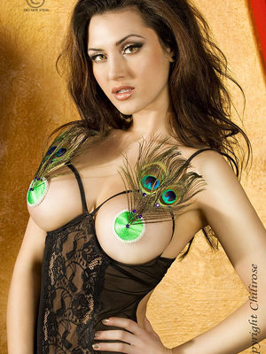 Greenish nipple covers
