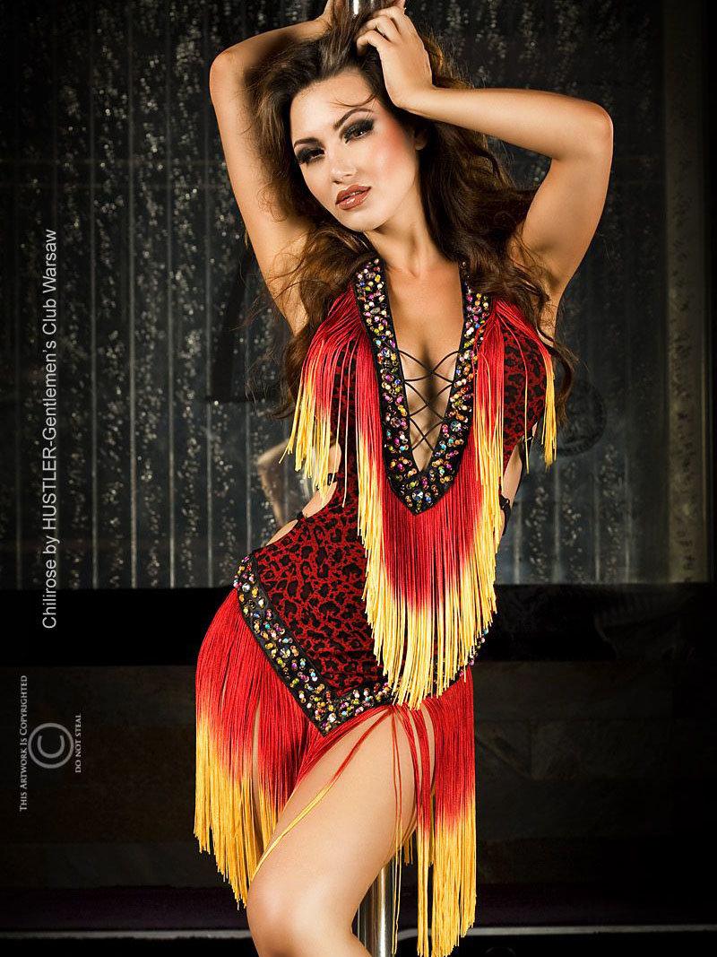 Chilirose Costum Dancer Rosu