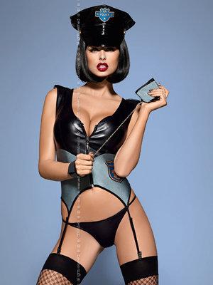 Costum Police corset - Gri