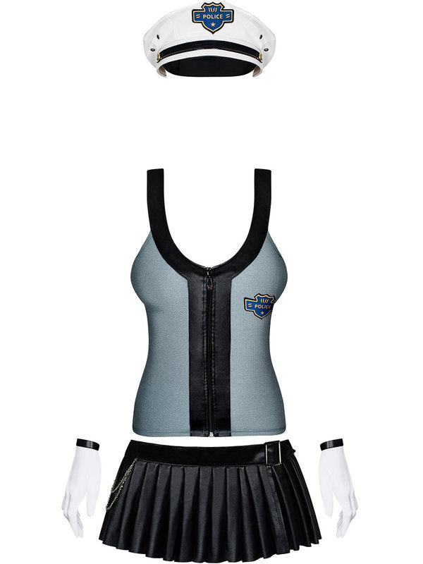 Costum Obsessive Police skirty set