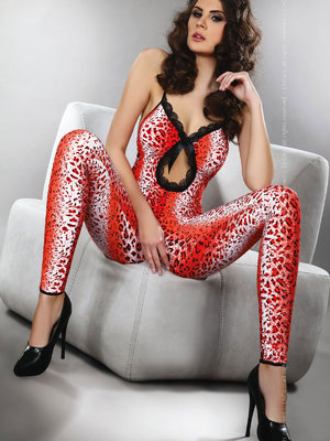 Catsuit LivCo Women Leopard
