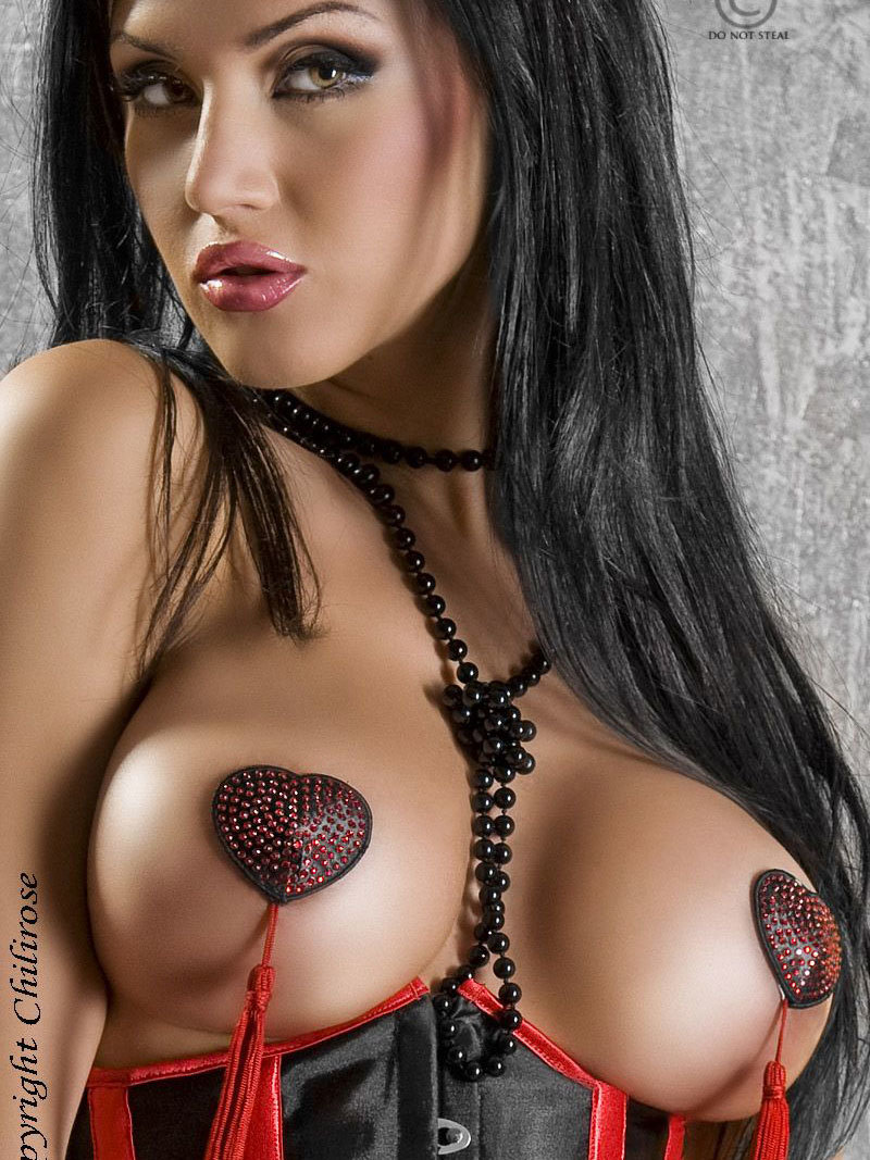 Nipple covers Red Rosu
