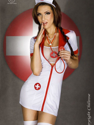 Costum Nurse set 6p - Alb