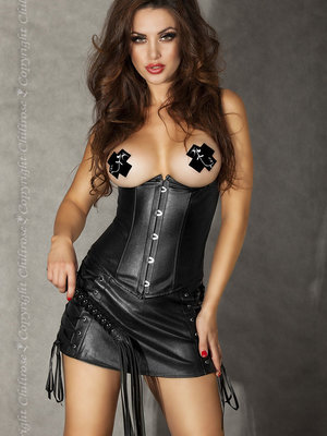 Corset Chilirose Leatherlook