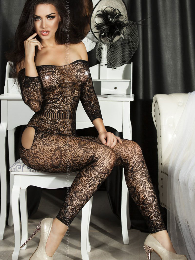 Chilirose Catsuit Faith Negru