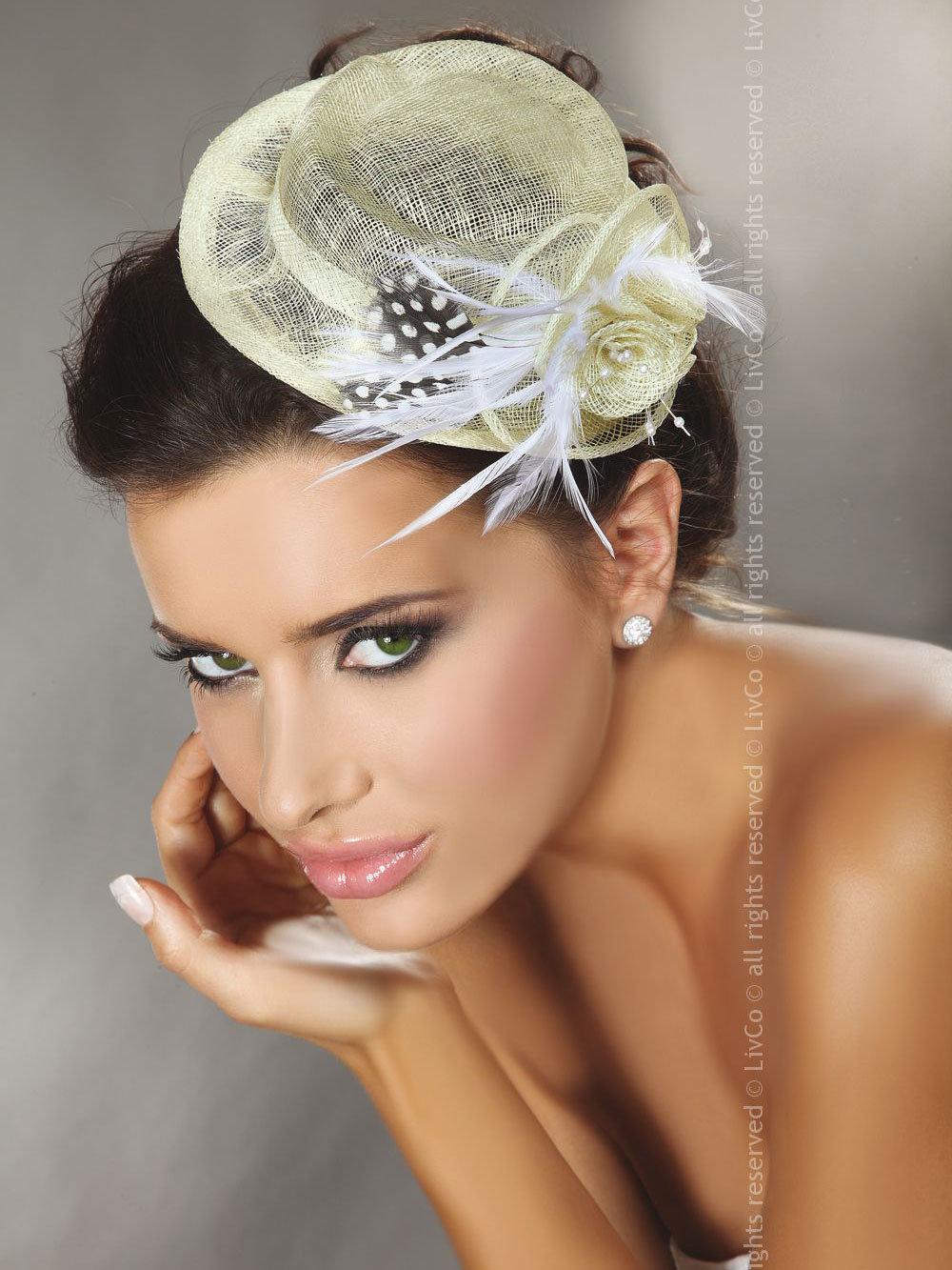 LivCo Palarie Mini Top Hat Model 30 Ivory
