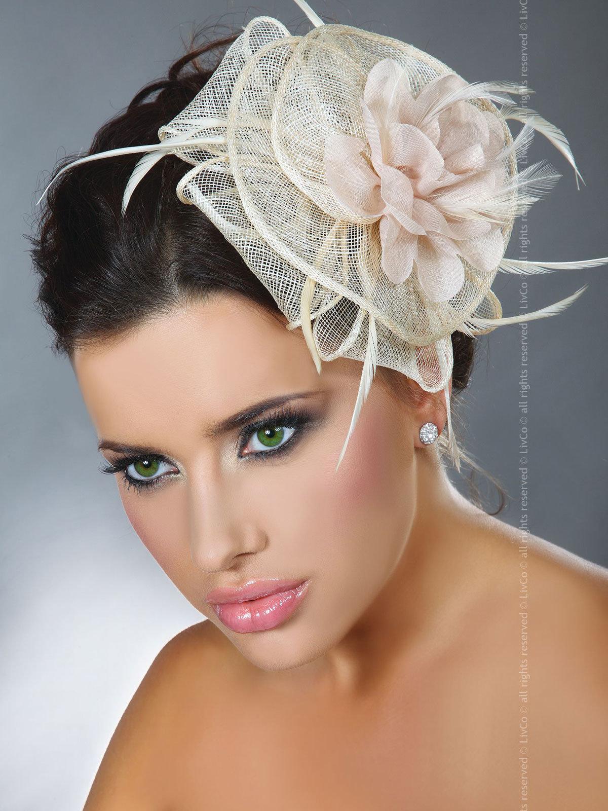 LivCo Palarie Mini Top Hat Model 33 Ivory