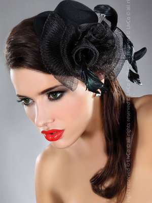 Palarie Mini top hat model 27 - Negru
