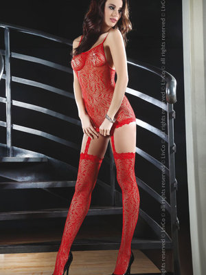 Catsuit LivCo Catriona red
