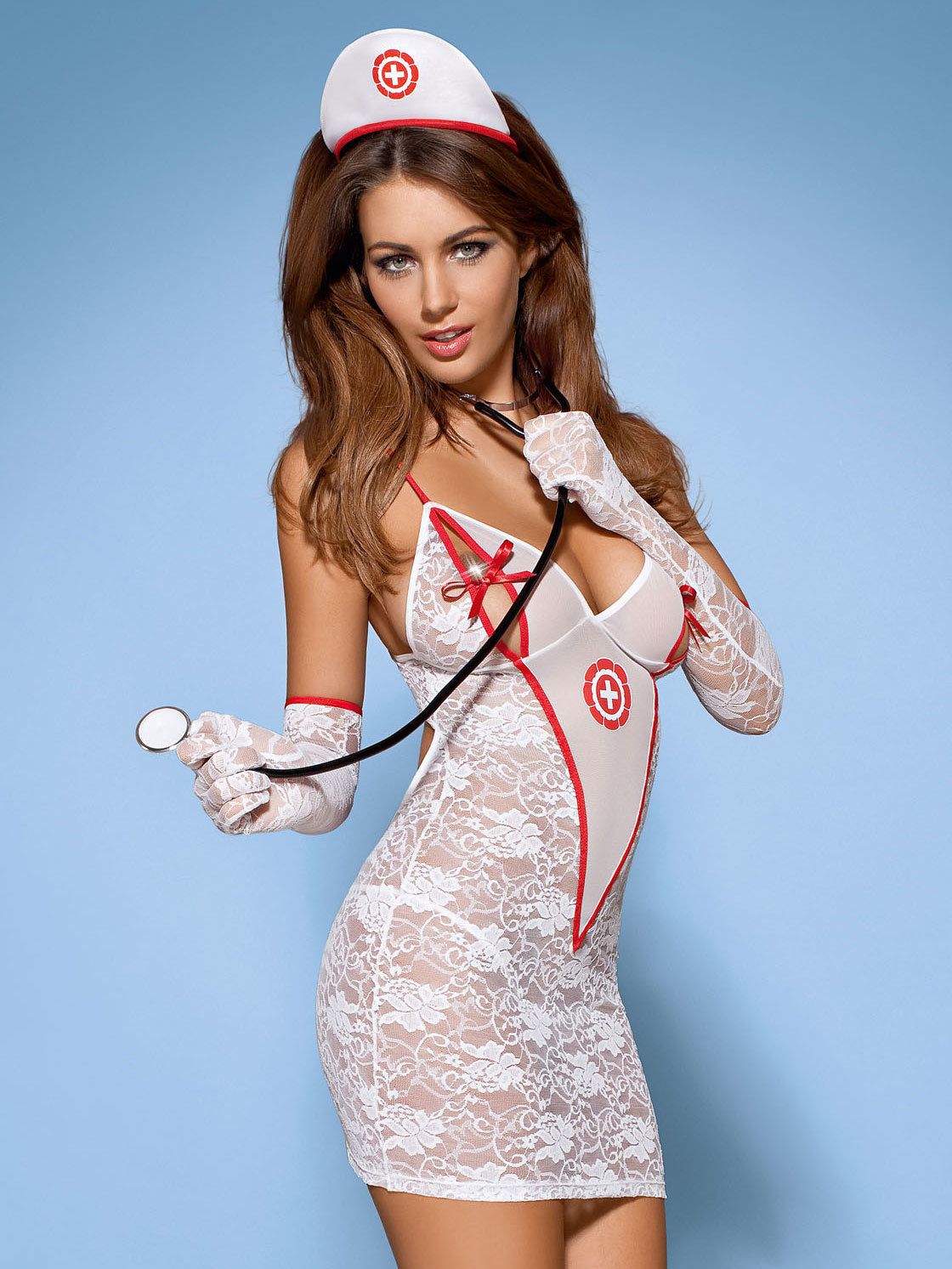 Obsessive Costum Medica dress Alb