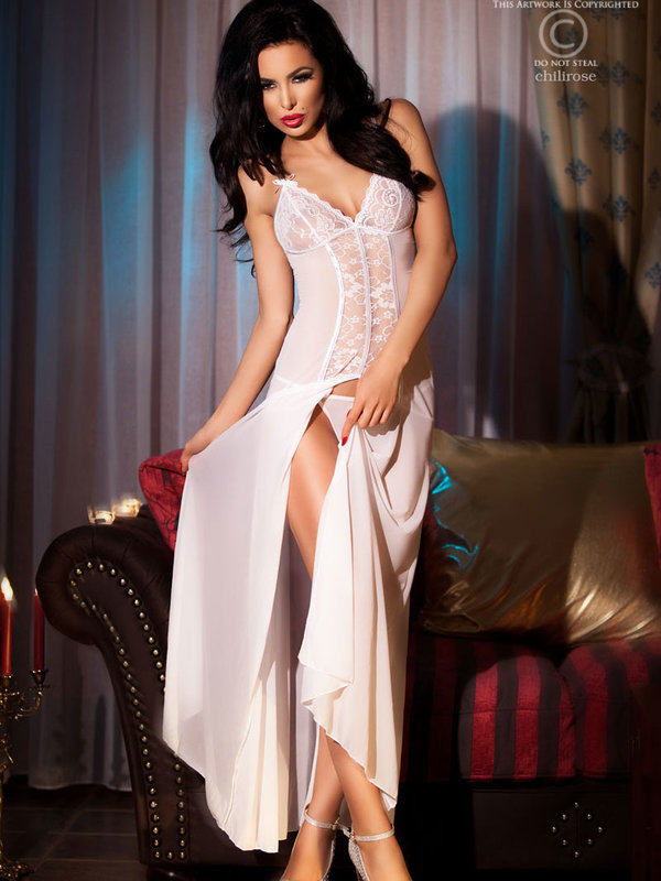 Chemise Chilirose Kim Long white