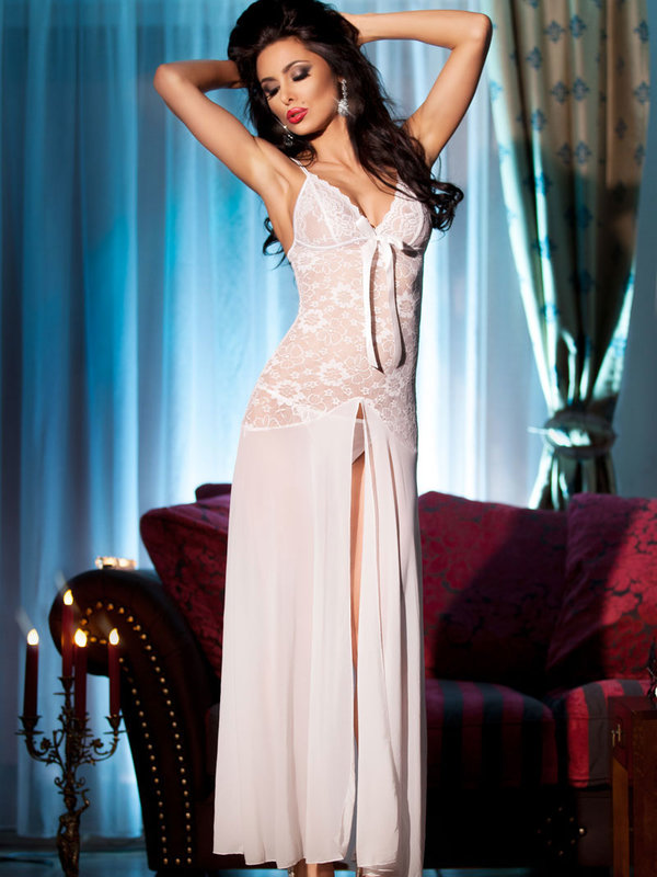 Chemise Chilirose Kirra Long white