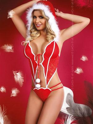 Costum Christmas Girl - Rosu