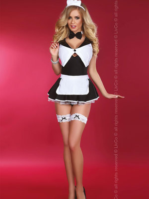 Costum Flirty Maid - Negru