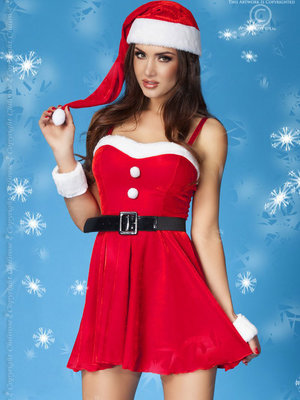 Costum Christmas dress - Rosu