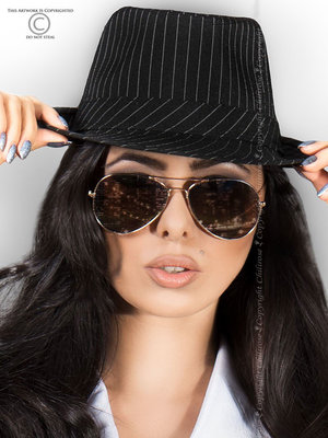 Palarie Chilirose Gangster Hat