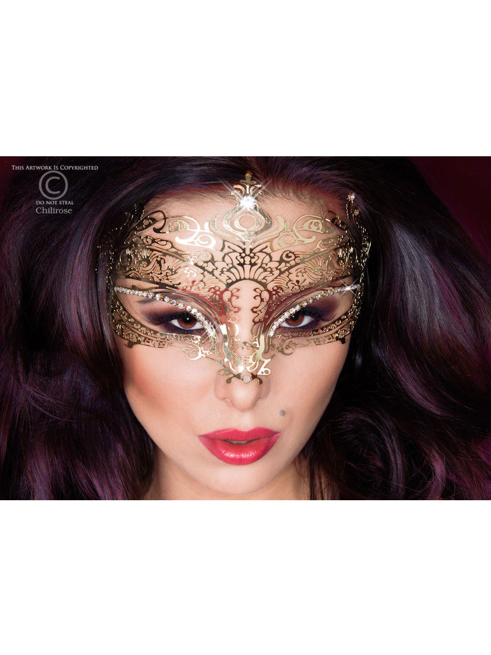 Masca Mysterious Auriu de la Chilirose