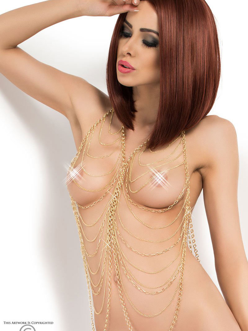 Chilirose Set sexy Body Chain model 5 Auriu