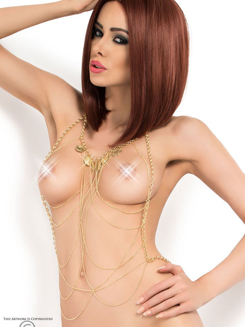 Chilirose Set sexy Body Chain model 6 Auriu
