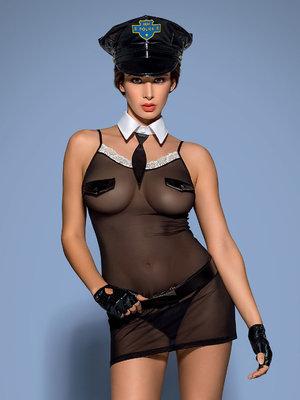 Costum Police chemise - Negru
