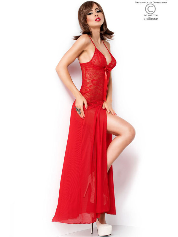 Chemise Chilirose Kirra Long red