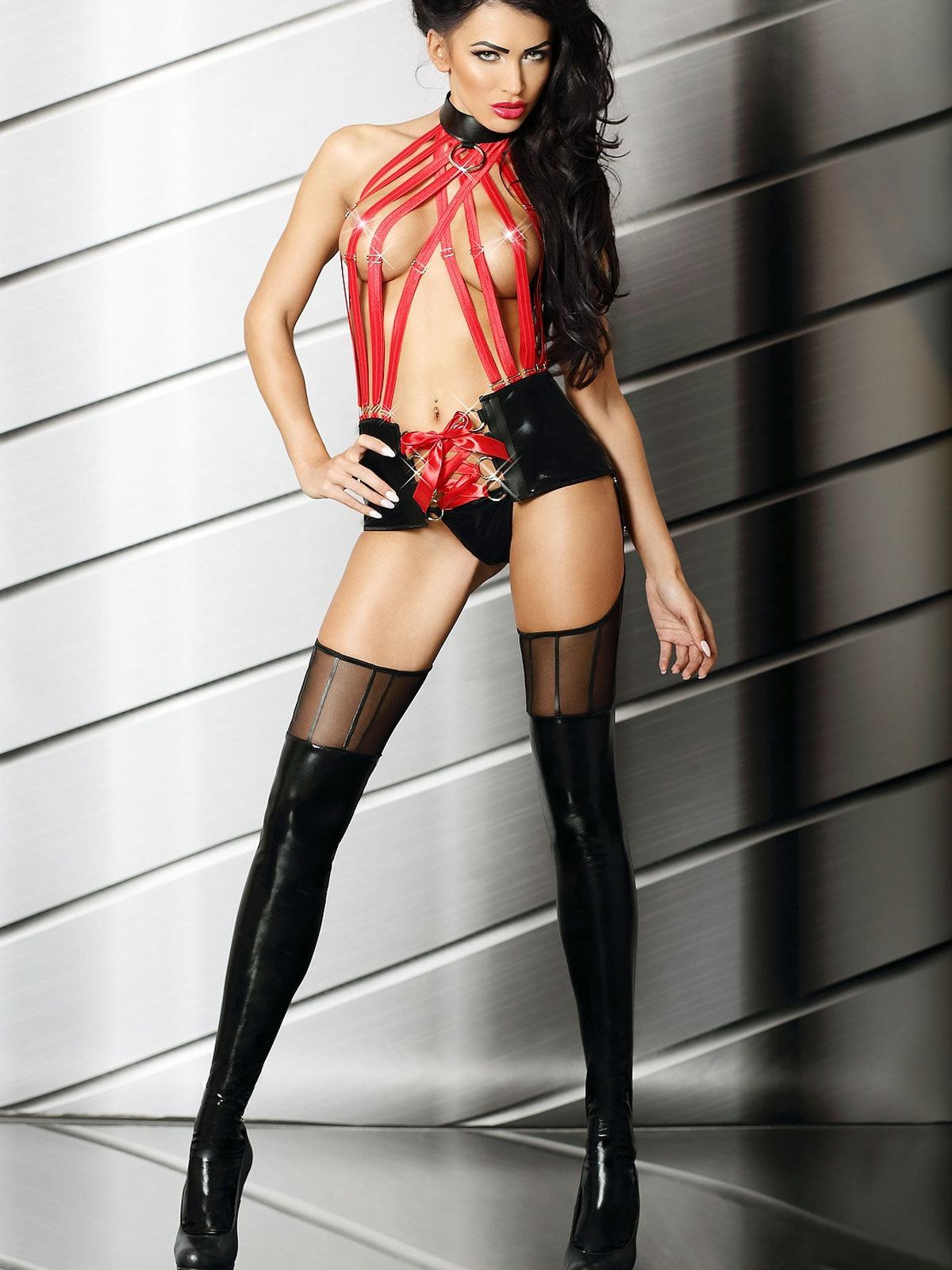 Set sexy Sensual Mistress Negru