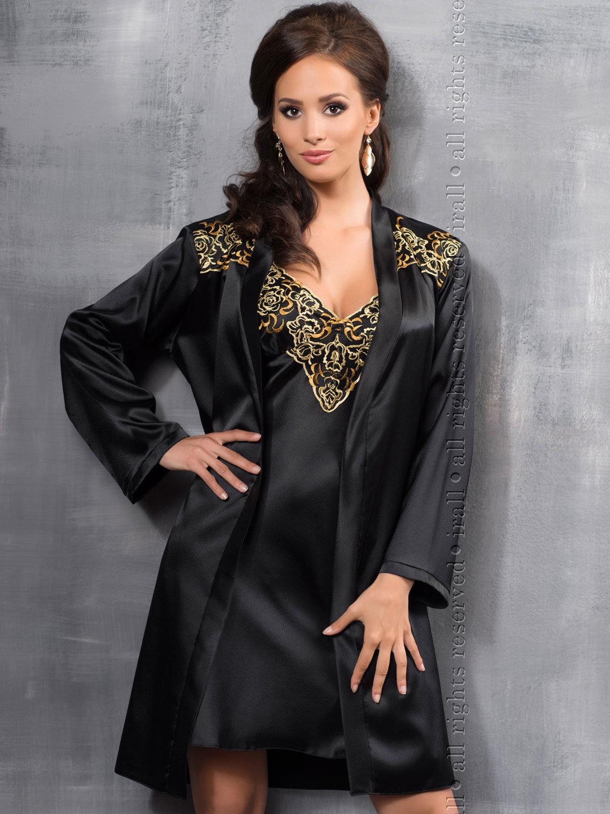 Halat Luna Dressing gown Negru thumbnail