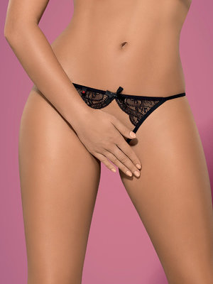 Chilot Miamor crotchless panties - Negru