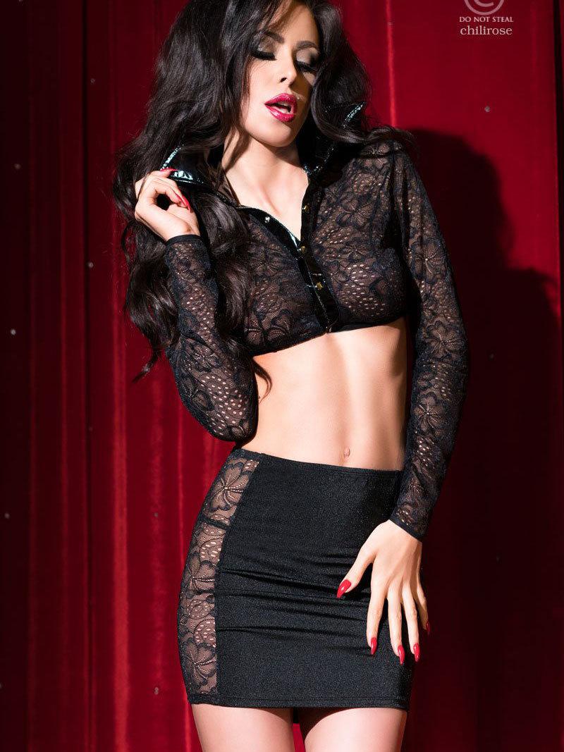 Set sexy Jessie Negru de la Chilirose
