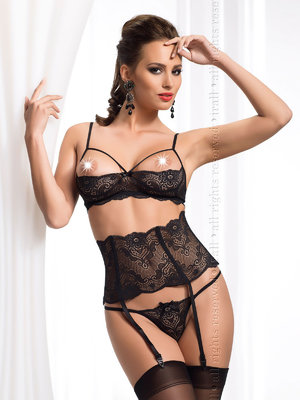 Set sexy Madison - Negru