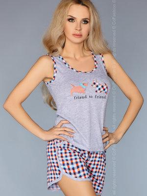 Pijama model 720 - Portocaliu