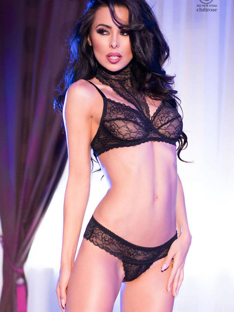 Set sexy Alberta Negru