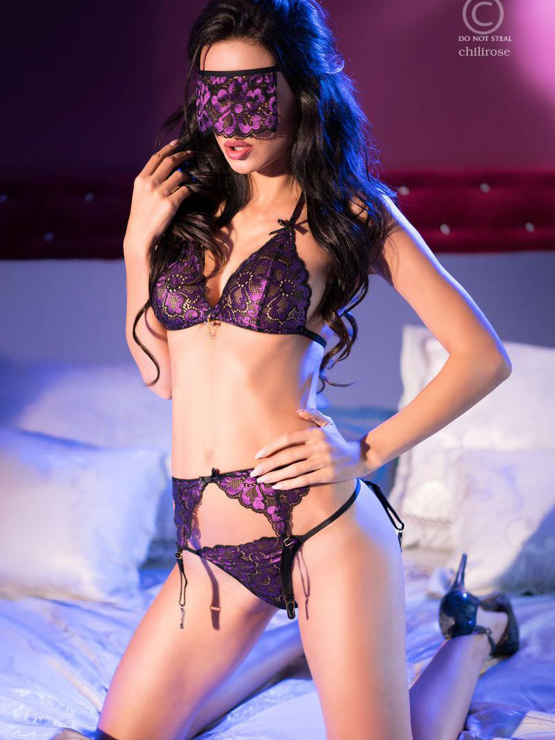 Set sexy Casiana Negru de la Chilirose