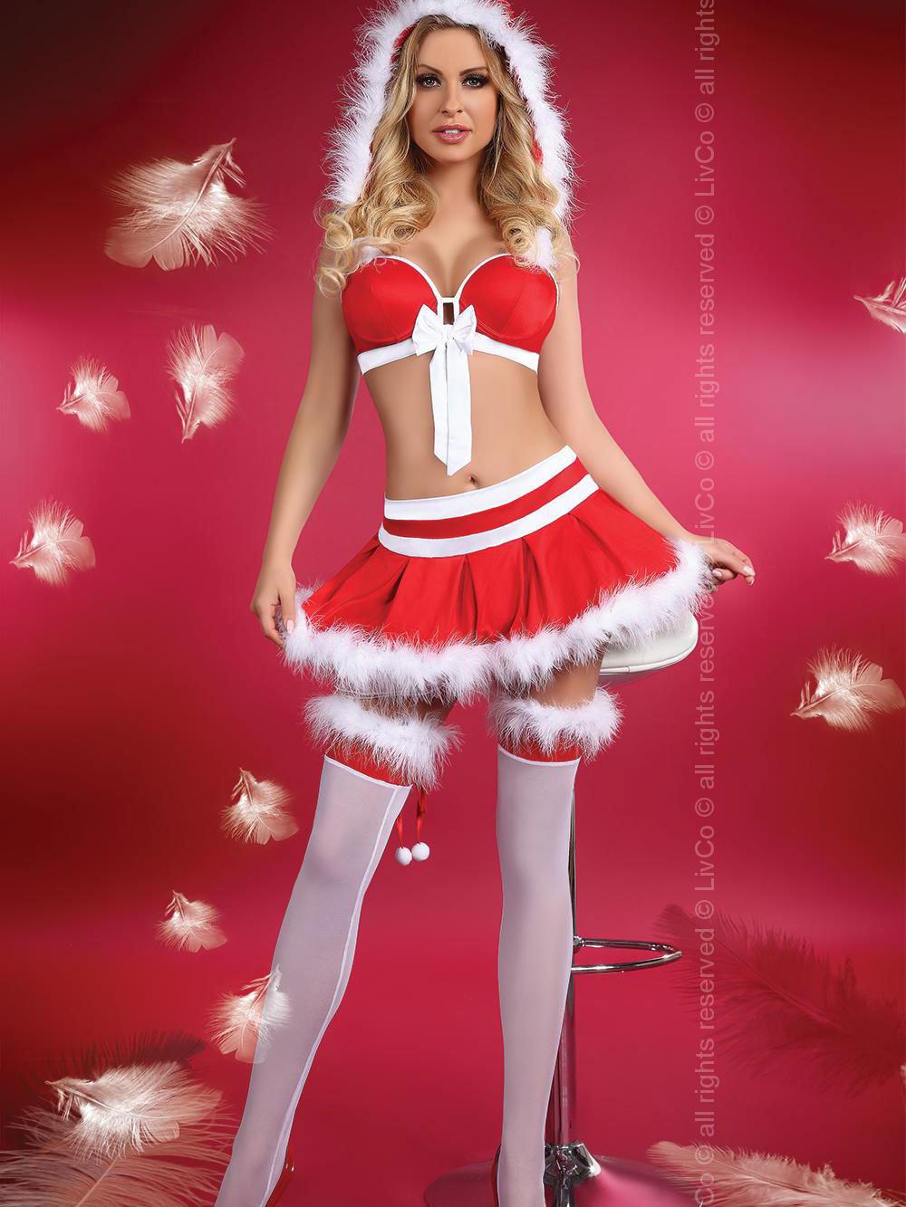 Costum Little Miss Christmas s Rosu