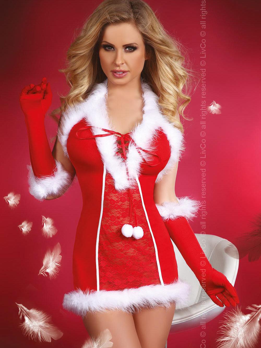 Costum Snow Queen Rosu de la LivCo