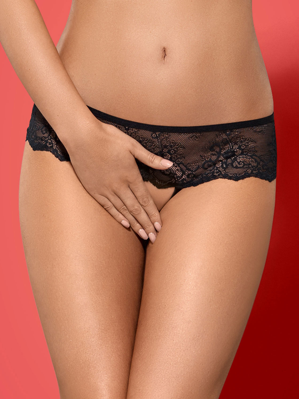 Obsessive Chilot Merossa crotchless panties Negru