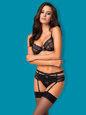 Set sexy Heartina - Negru