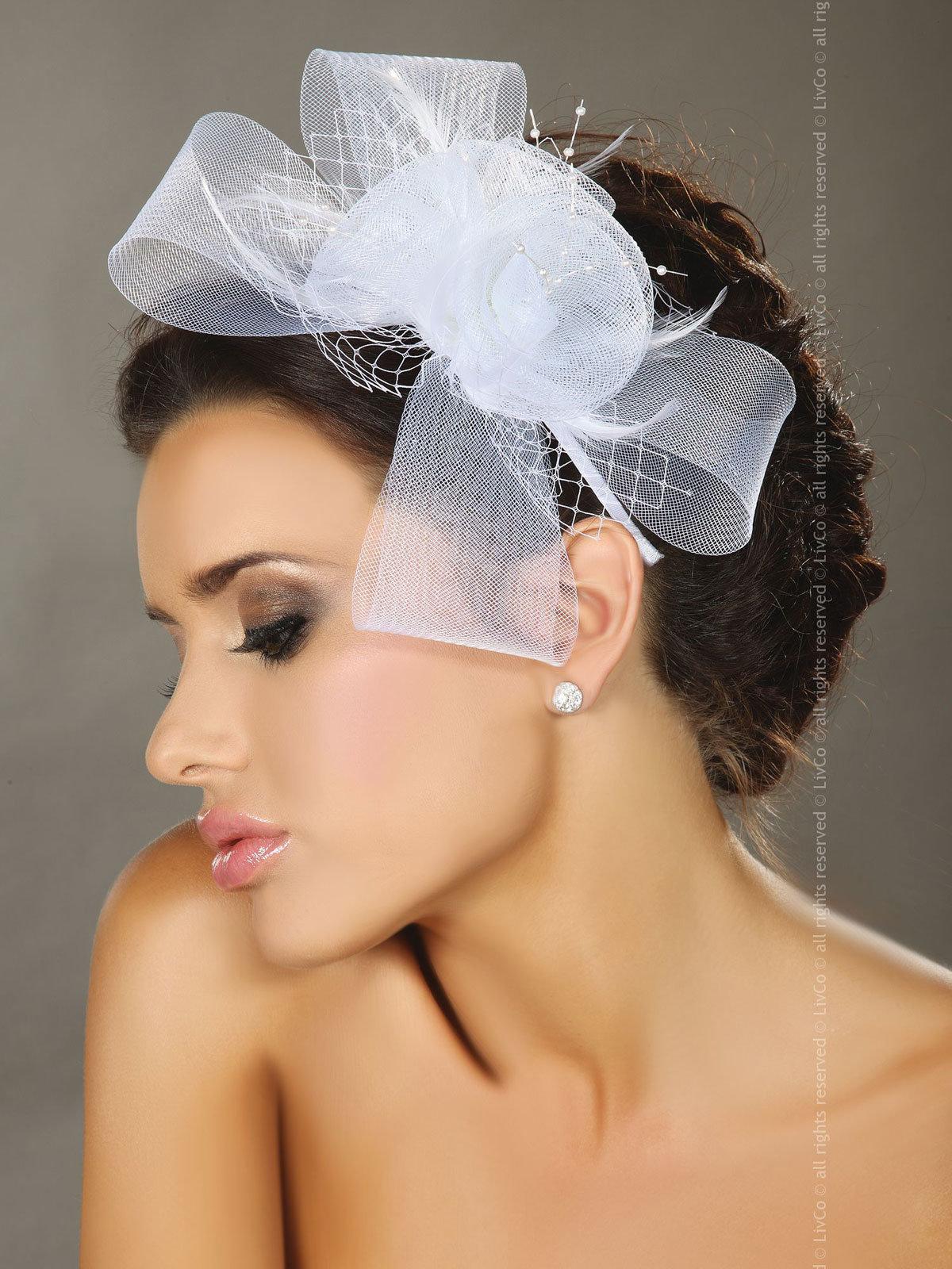 LivCo Palarie Mini top hat model 32 Alb