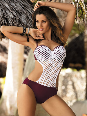 Costum de baie Gwen purple - Grena